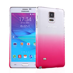 Coque Transparente Rigide Degrade pour Samsung Galaxy Note 4 SM-N910F Rose