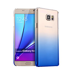 Coque Transparente Rigide Degrade pour Samsung Galaxy Note 5 N9200 N920 N920F Bleu