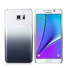 Coque Transparente Rigide Degrade pour Samsung Galaxy Note 5 N9200 N920 N920F Gris