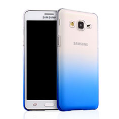 Coque Transparente Rigide Degrade pour Samsung Galaxy On5 G550FY Bleu