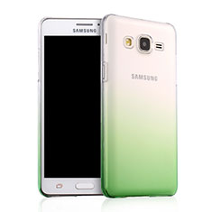 Coque Transparente Rigide Degrade pour Samsung Galaxy On5 Pro Vert