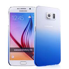 Coque Transparente Rigide Degrade pour Samsung Galaxy S6 Duos SM-G920F G9200 Bleu