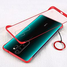 Coque Ultra Fine Mat Rigide Housse Etui Transparente pour Xiaomi Redmi Note 8 Pro Rouge
