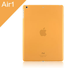 Coque Ultra Fine Mat Rigide Transparente pour Apple iPad Air Orange