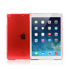 Coque Ultra Fine Mat Rigide Transparente pour Apple iPad Mini 3 Rouge