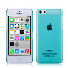 Coque Ultra Fine Mat Rigide Transparente pour Apple iPhone 5C Bleu Ciel