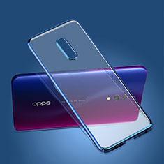 Coque Ultra Fine Plastique Rigide Etui Housse Transparente pour Oppo Realme X Bleu