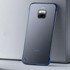 Coque Ultra Fine Plastique Rigide Etui Housse Transparente U01 pour Huawei Mate 20 Pro Bleu