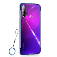 Coque Ultra Fine Plastique Rigide Etui Housse Transparente U01 pour Huawei P20 Lite (2019) Bleu