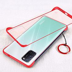 Coque Ultra Fine Plastique Rigide Etui Housse Transparente U01 pour Oppo A92 Rouge