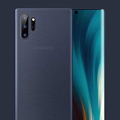Coque Ultra Fine Plastique Rigide Etui Housse Transparente U01 pour Samsung Galaxy Note 10 Plus 5G Bleu