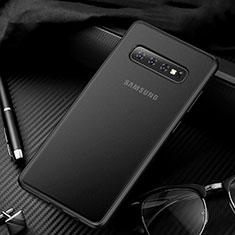 Coque Ultra Fine Plastique Rigide Etui Housse Transparente U01 pour Samsung Galaxy S10 Noir