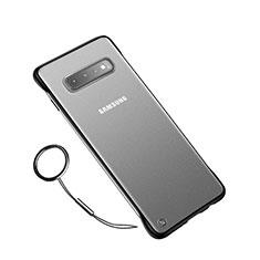 Coque Ultra Fine Plastique Rigide Etui Housse Transparente U01 pour Samsung Galaxy S10 Plus Noir