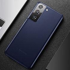 Coque Ultra Fine Plastique Rigide Etui Housse Transparente U01 pour Samsung Galaxy S21 5G Bleu