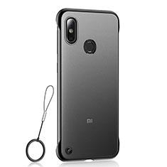 Coque Ultra Fine Plastique Rigide Etui Housse Transparente U01 pour Xiaomi Mi 8 Noir