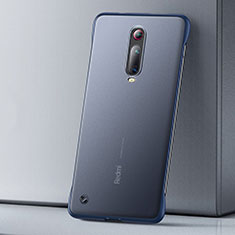 Coque Ultra Fine Plastique Rigide Etui Housse Transparente U01 pour Xiaomi Mi 9T Bleu