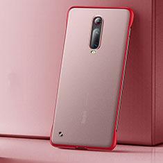 Coque Ultra Fine Plastique Rigide Etui Housse Transparente U01 pour Xiaomi Mi 9T Pro Rouge
