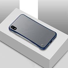 Coque Ultra Fine Plastique Rigide Etui Housse Transparente U01 pour Xiaomi Redmi 7A Bleu