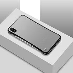 Coque Ultra Fine Plastique Rigide Etui Housse Transparente U01 pour Xiaomi Redmi 7A Noir