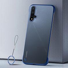 Coque Ultra Fine Plastique Rigide Etui Housse Transparente U02 pour Huawei Nova 5 Pro Bleu