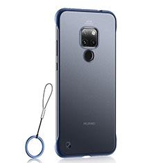 Coque Ultra Fine Plastique Rigide Etui Housse Transparente U03 pour Huawei Mate 20 Bleu