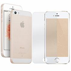 Coque Ultra Fine Plastique Rigide Transparente et Protecteur d'Ecran pour Apple iPhone SE Clair