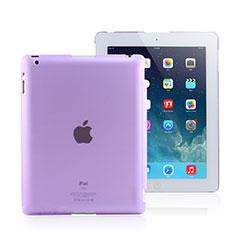 Coque Ultra Fine Plastique Rigide Transparente pour Apple iPad 4 Violet