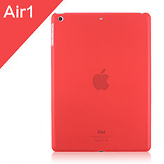 Coque Ultra Fine Plastique Rigide Transparente pour Apple iPad Air Rouge
