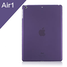 Coque Ultra Fine Plastique Rigide Transparente pour Apple iPad Air Violet