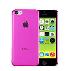 Coque Ultra Fine Plastique Rigide Transparente pour Apple iPhone 5C Rose Rouge