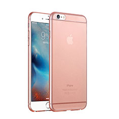Coque Ultra Fine Plastique Rigide Transparente pour Apple iPhone 6 Plus Or Rose