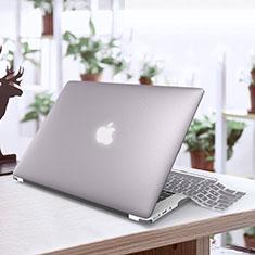 Coque Ultra Fine Plastique Rigide Transparente pour Apple MacBook Air 13.3 pouces (2018) Argent