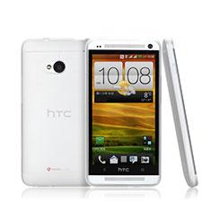 Coque Ultra Fine Plastique Rigide Transparente pour HTC One M7 Blanc