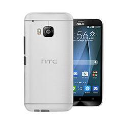 Coque Ultra Fine Plastique Rigide Transparente pour HTC One M9 Blanc