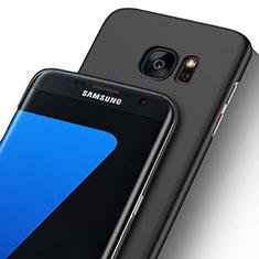 Coque Ultra Fine Plastique Rigide Transparente pour Samsung Galaxy S7 Edge G935F Noir