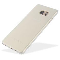 Coque Ultra Fine Plastique Rigide Transparente T01 pour Samsung Galaxy Note 7 Blanc