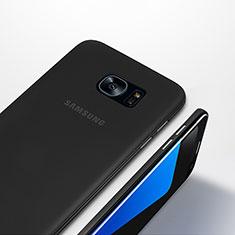Coque Ultra Fine Plastique Rigide Transparente T01 pour Samsung Galaxy S7 Edge G935F Noir
