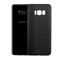 Coque Ultra Fine Plastique Rigide Transparente T01 pour Samsung Galaxy S8 Noir