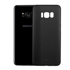 Coque Ultra Fine Plastique Rigide Transparente T01 pour Samsung Galaxy S8 Plus Noir