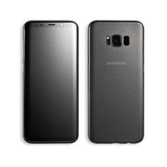 Coque Ultra Fine Plastique Rigide Transparente T02 pour Samsung Galaxy S8 Noir