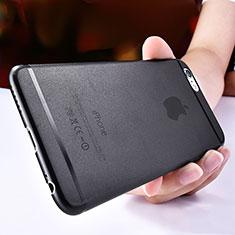 Coque Ultra Fine Plastique Rigide Transparente T06 pour Apple iPhone 6 Noir