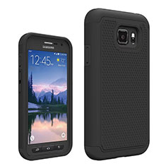 Coque Ultra Fine Silicone Souple 360 Degres Avant et Arriere pour Samsung Galaxy S7 Active G891A Noir