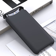 Coque Ultra Fine Silicone Souple 360 Degres Housse Etui C01 pour Oppo Find X Noir