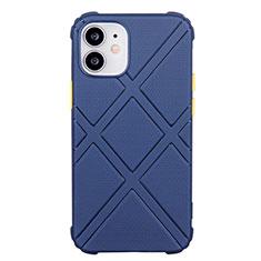 Coque Ultra Fine Silicone Souple 360 Degres Housse Etui C02 pour Apple iPhone 12 Bleu