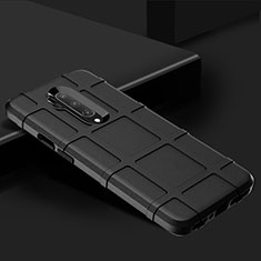 Coque Ultra Fine Silicone Souple 360 Degres Housse Etui C02 pour OnePlus 7T Pro Noir