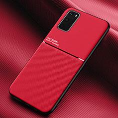 Coque Ultra Fine Silicone Souple 360 Degres Housse Etui C02 pour Samsung Galaxy S20 5G Rouge