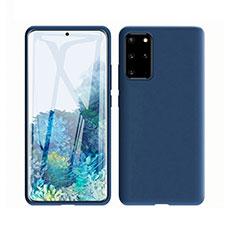 Coque Ultra Fine Silicone Souple 360 Degres Housse Etui C02 pour Samsung Galaxy S20 Plus 5G Bleu