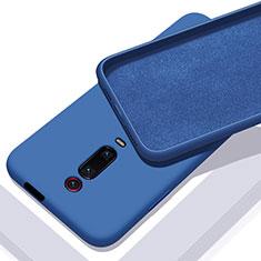 Coque Ultra Fine Silicone Souple 360 Degres Housse Etui C02 pour Xiaomi Mi 9T Pro Bleu