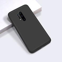 Coque Ultra Fine Silicone Souple 360 Degres Housse Etui C03 pour OnePlus 8 Pro Noir