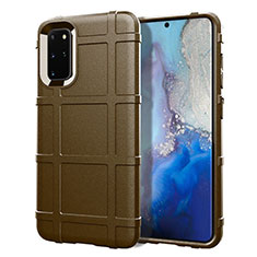 Coque Ultra Fine Silicone Souple 360 Degres Housse Etui C04 pour Samsung Galaxy S20 Plus Marron